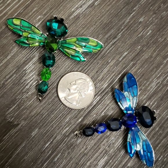 Jewelry - Crystal Dragonfly Brooches